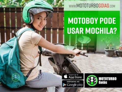 Motoboy pode usar mochila?