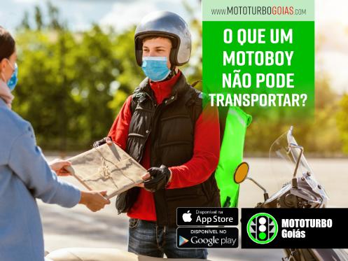 O que um motoboy não pode transportar?