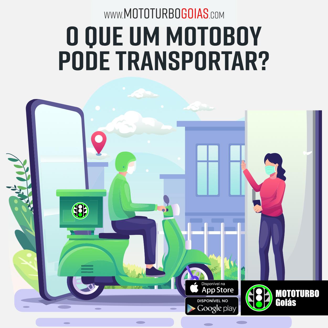 O que um motoboy pode transportar?